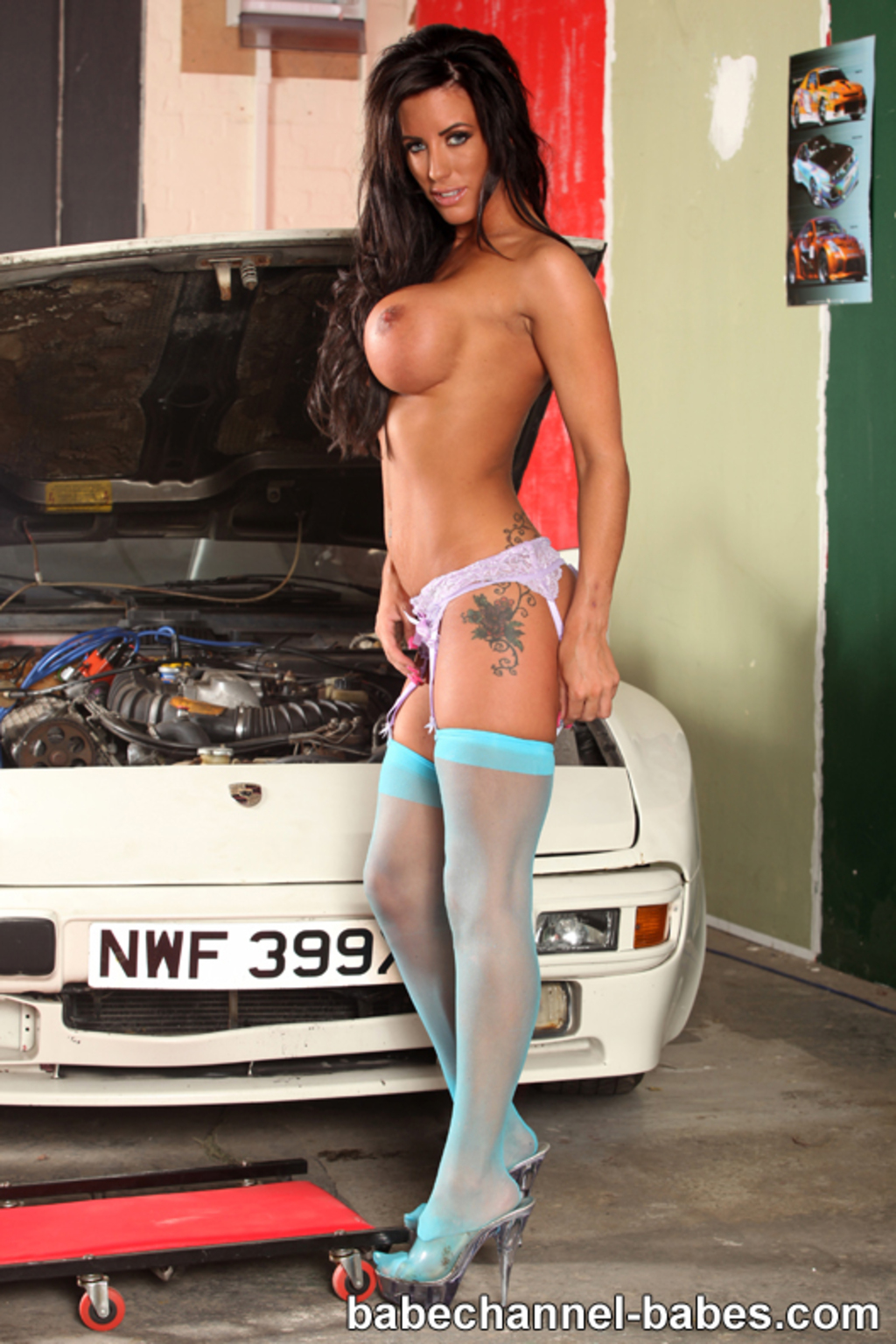 Charlie Monaco Sexy Blue Stockings - babechannel-babes 10 ...