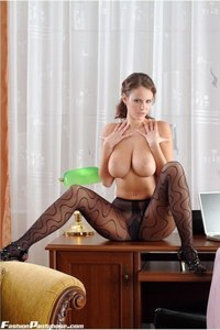 Busty Babe In Hot Pantyhose 15