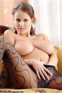 Busty Babe In Hot Pantyhose 17