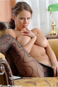 Busty Babe In Hot Pantyhose 19