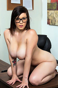 Noelle Easton Busty Girl Hot In Glasses