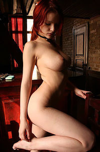 Myla Busty Redhead Babe Posing Naked