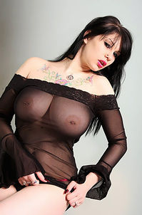 Busty gothic Nude